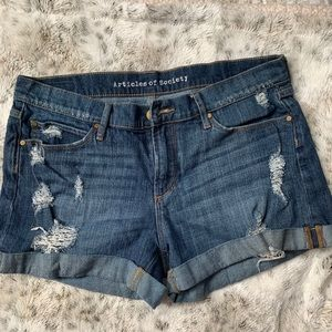 Articles of Society Mid Rise Jean Shorts